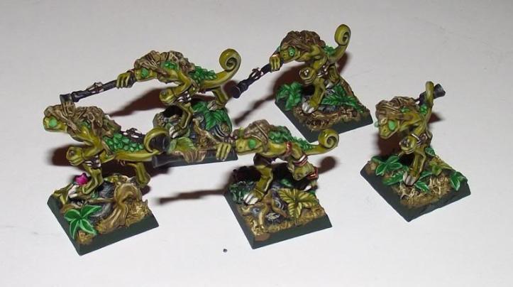 Lizardmen on Micro Art Studio jungle bases