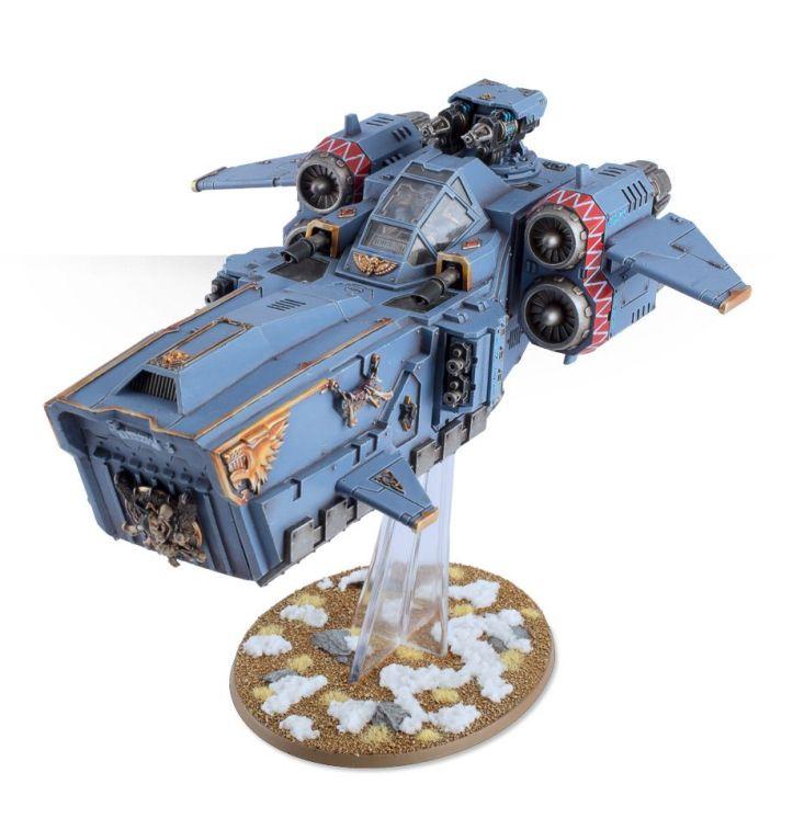 Space Worf Stormwolf Assault vehicle on snow base