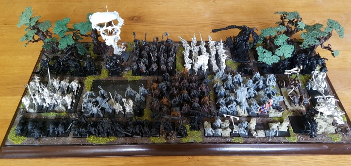 Warhammer Beastmen army on display board